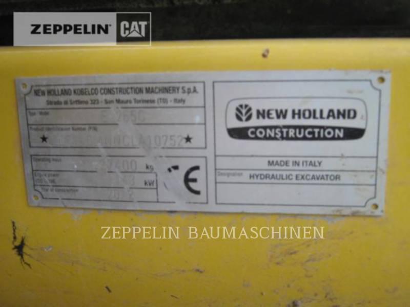 NEW HOLLAND EXCAVADORAS DE CADENAS E265 equipment  photo 2