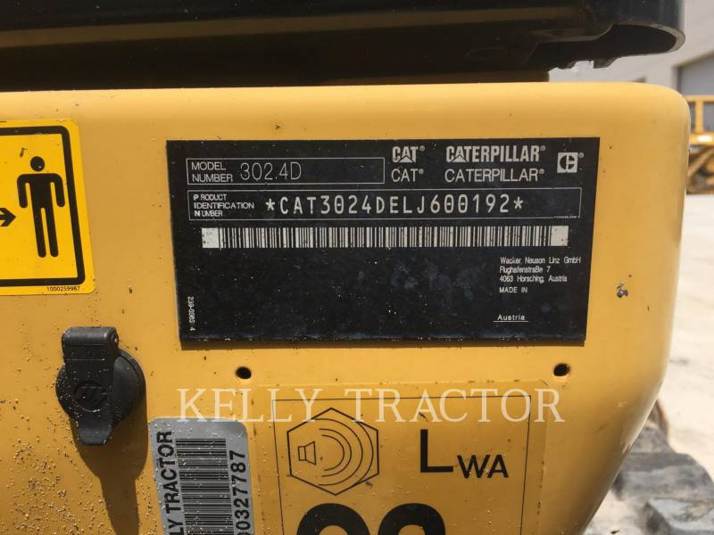 CATERPILLAR TRACK EXCAVATORS 302.4D equipment  photo 14