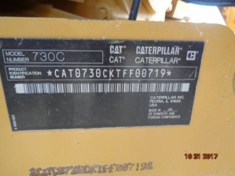 CATERPILLAR ARTICULATED TRUCKS 730C equipment  photo 22