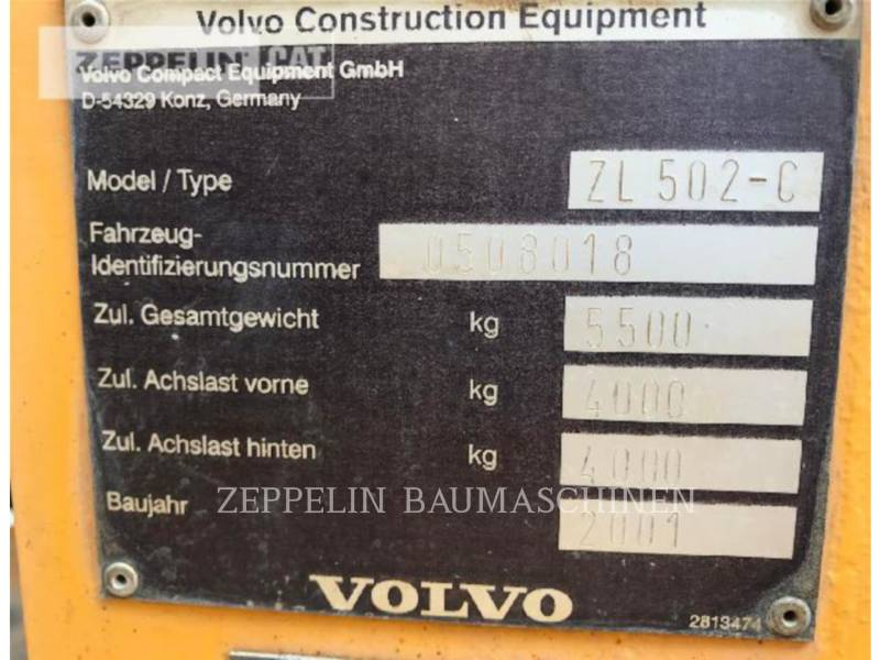 VOLVO CONSTRUCTION EQUIPMENT WHEEL LOADERS/INTEGRATED TOOLCARRIERS 502 equipment  photo 6