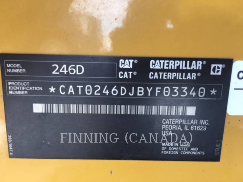 CATERPILLAR PALE COMPATTE SKID STEER 246D equipment  photo 10