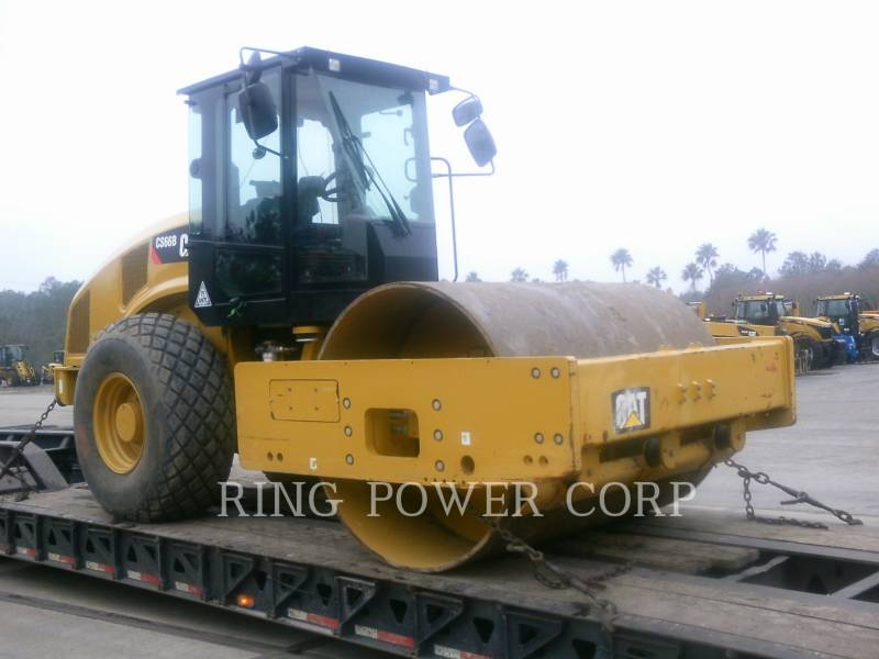 CATERPILLAR TRILLENDE ENKELE TROMMEL GLAD CS66B equipment  photo 2