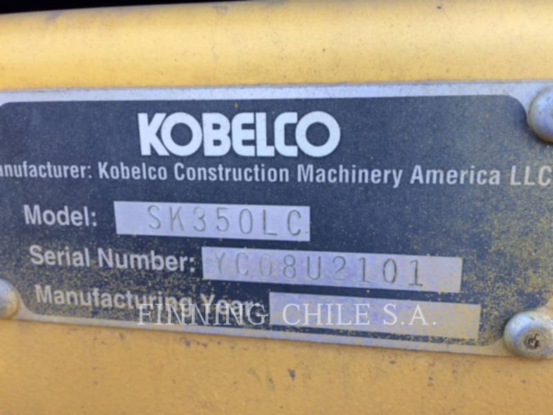 KOBELCO / KOBE STEEL LTD TRACK EXCAVATORS SK350 ME equipment  photo 6