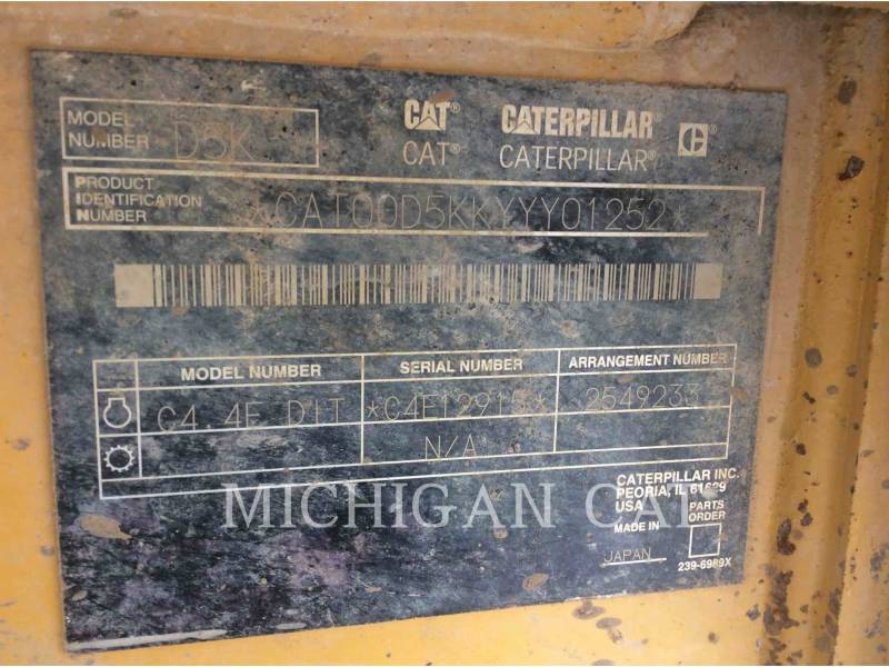CATERPILLAR TRACTORES DE CADENAS D5KL CAG equipment  photo 9