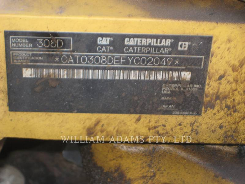 CATERPILLAR KOPARKI GĄSIENICOWE 308 D CR equipment  photo 10