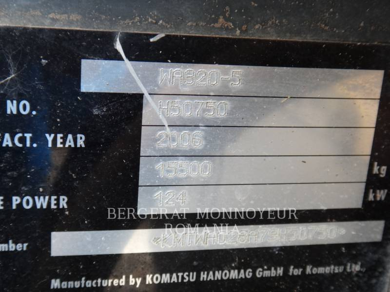 KOMATSU RADLADER/INDUSTRIE-RADLADER WA 320 equipment  photo 9