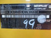 CATERPILLAR TRACK EXCAVATORS 316EL equipment  photo 12