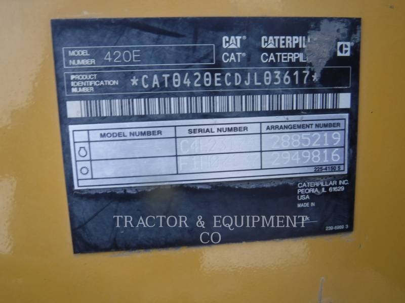 CATERPILLAR CHARGEUSES-PELLETEUSES 420E equipment  photo 2