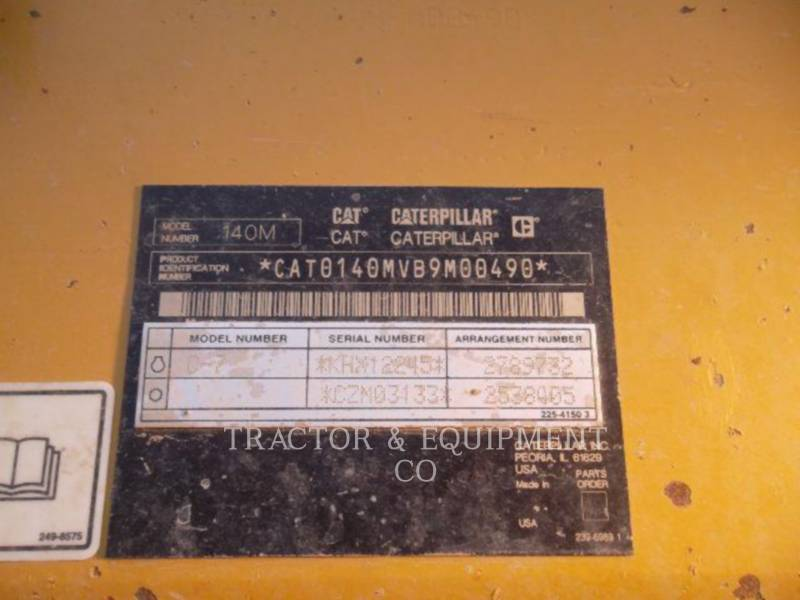 CATERPILLAR MOTONIVELADORAS 140M equipment  photo 10