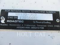 ROADTEC ASPHALT PAVERS RB170 equipment  photo 5