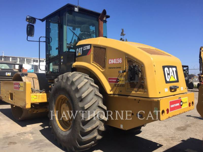 CATERPILLAR VIBRATORY SINGLE DRUM SMOOTH CS78B equipment  photo 4