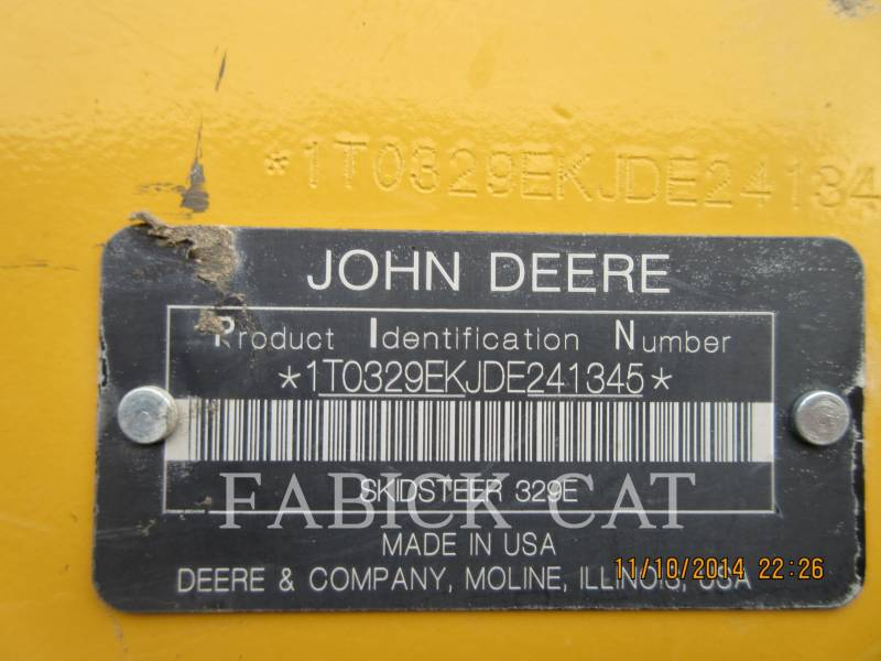 DEERE & CO. MULTI TERRAIN LOADERS 329E equipment  photo 5