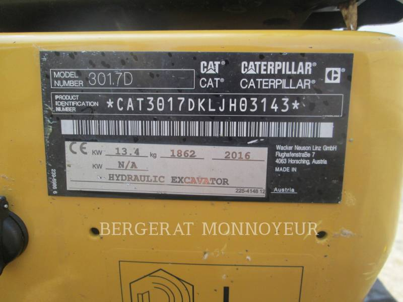 CATERPILLAR KETTEN-HYDRAULIKBAGGER 301.7D equipment  photo 15