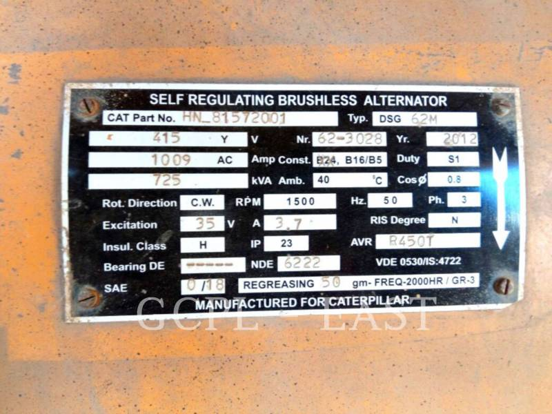 CATERPILLAR STATIONARY - DIESEL (OBS) 725 KVA equipment  photo 13