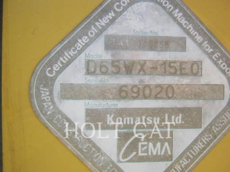 KOMATSU TRACK TYPE TRACTORS D65WX-15EO equipment  photo 5