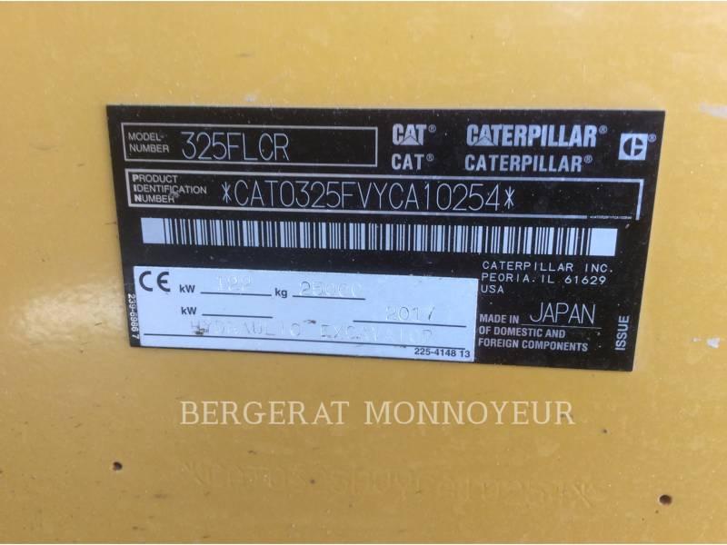 CATERPILLAR ESCAVATORI CINGOLATI 325FLCR equipment  photo 11