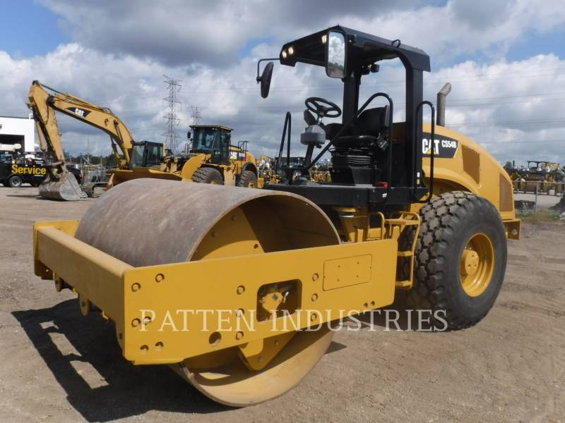 CATERPILLAR VIBRATORY SINGLE DRUM PAD CS54B equipment  photo 1