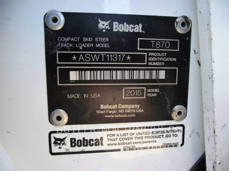 BOBCAT SKID STEER LOADERS T870 equipment  photo 6