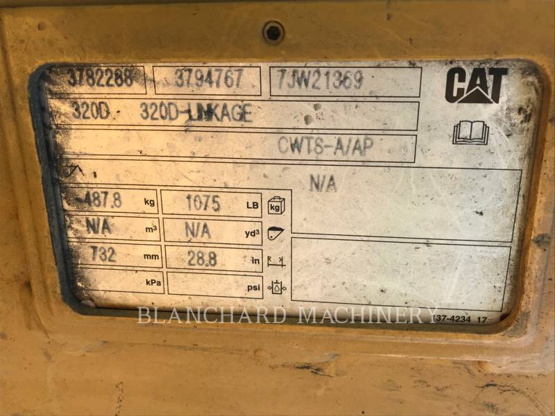 CATERPILLAR TRACK EXCAVATORS 323FL equipment  photo 13