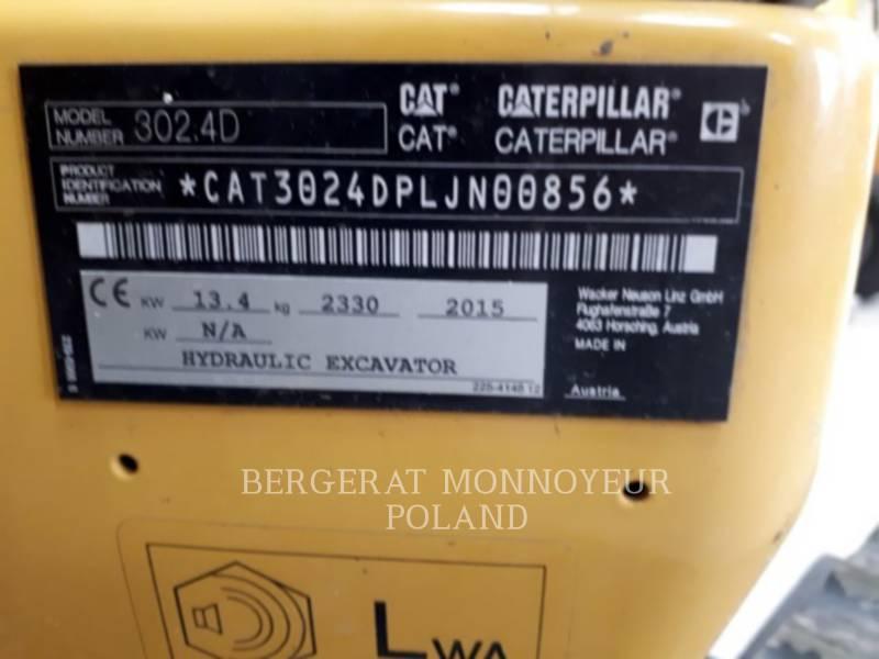 CATERPILLAR KOPARKI GĄSIENICOWE 302.4D equipment  photo 8
