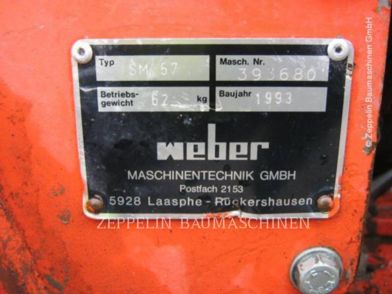 WEBER AG - FUGENFRÄSE Weber SM57 equipment  photo 2