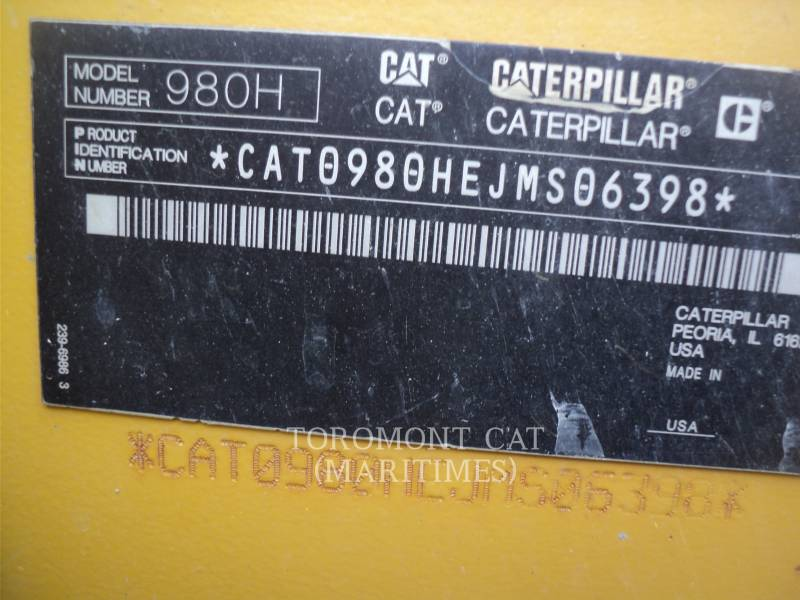 CATERPILLAR WHEEL LOADERS/INTEGRATED TOOLCARRIERS 980 H equipment  photo 3