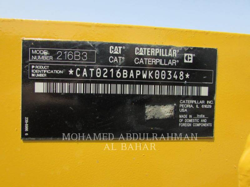 CATERPILLAR CHARGEURS COMPACTS RIGIDES 216B3LRC equipment  photo 13