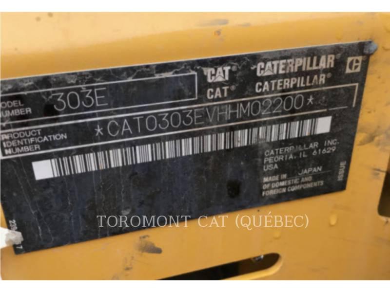CATERPILLAR EXCAVADORAS DE CADENAS 303 E CR equipment  photo 15