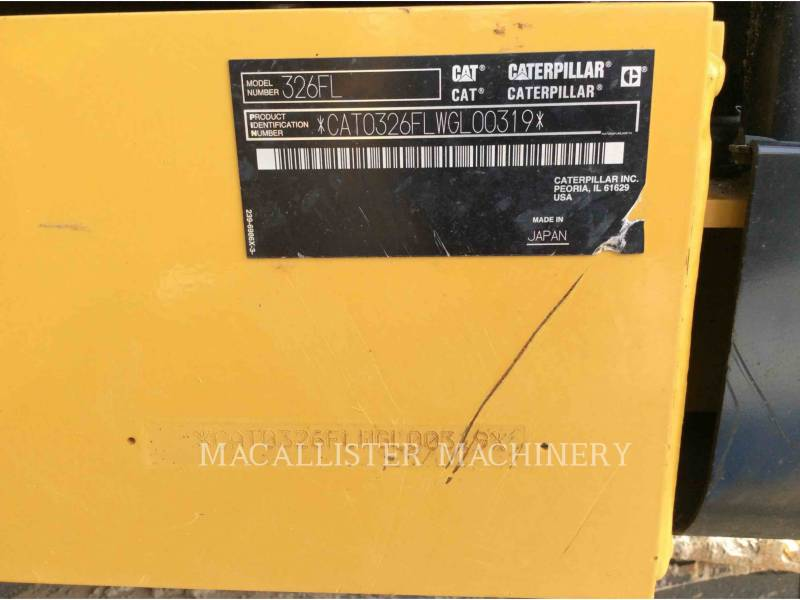 CATERPILLAR ESCAVADEIRAS 326FL equipment  photo 9