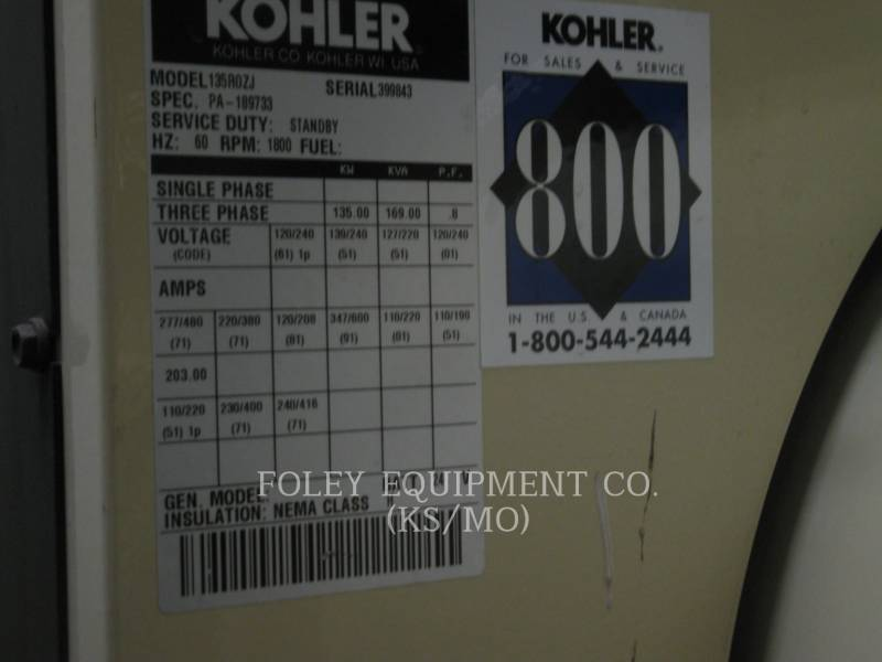 KOHLER STACJONARNY — WYSOKOPRĘŻNY 135ROZJEP equipment  photo 3