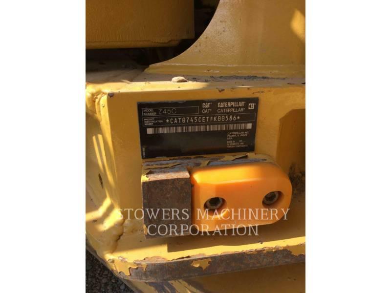 CATERPILLAR CAMIONES ARTICULADOS 745C equipment  photo 9