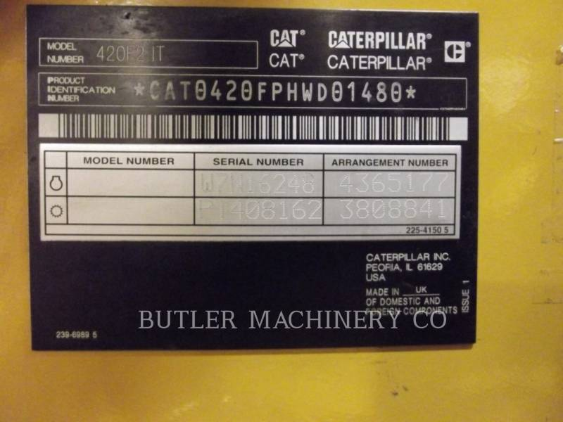 CATERPILLAR CHARGEUSES-PELLETEUSES 420 F 2 IT equipment  photo 7