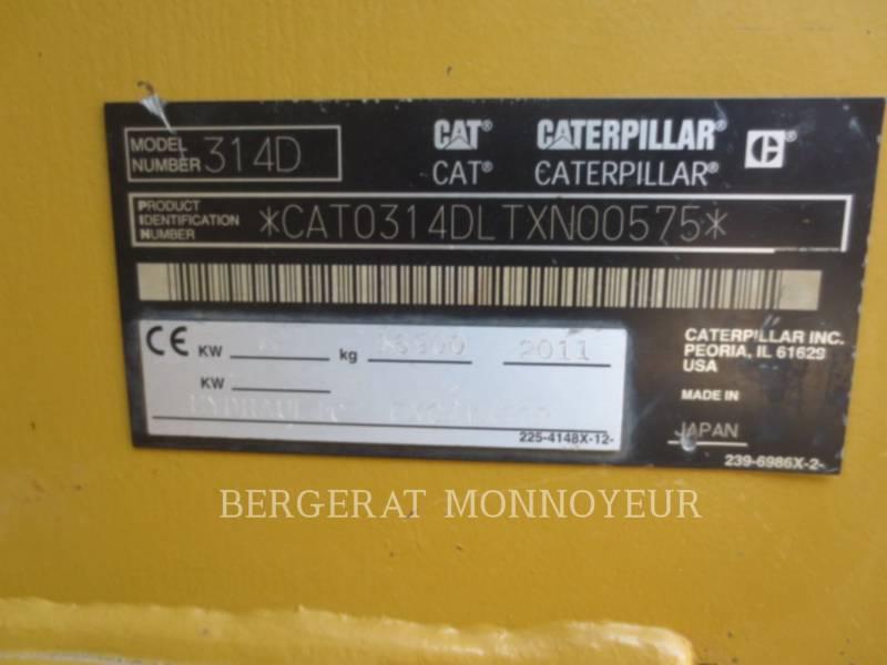 CATERPILLAR TRACK EXCAVATORS 314D equipment  photo 15