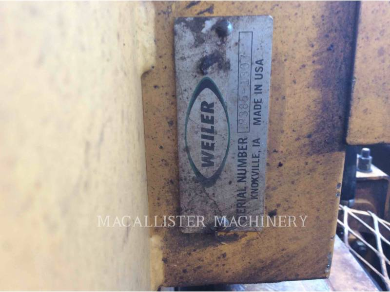 WEILER BETONIERE DE ASFALT P385 equipment  photo 18