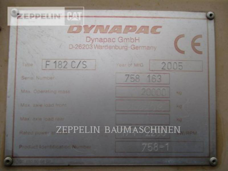 DYNAPAC ASPHALT PAVERS F182CS equipment  photo 8