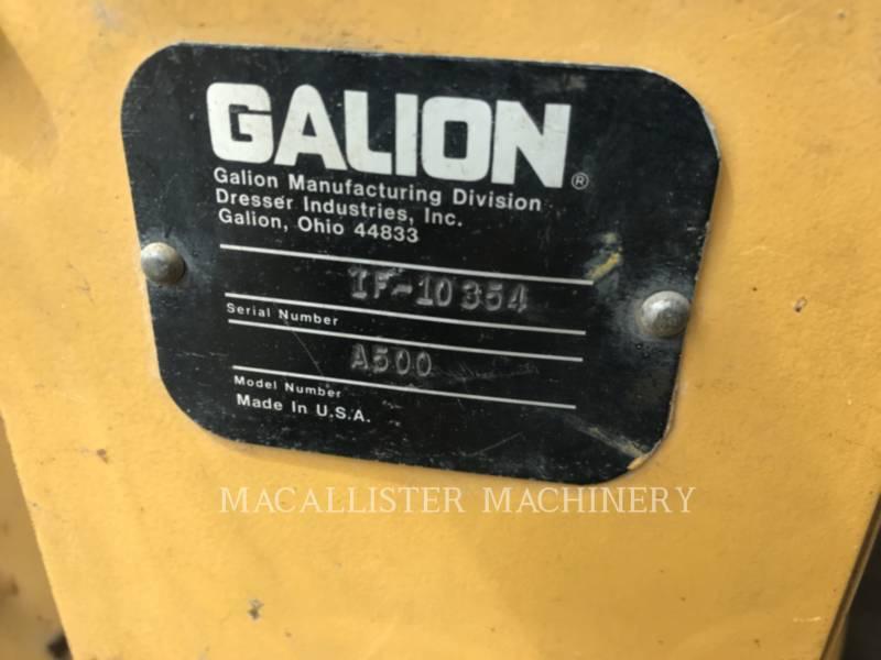 GALION MOTORGRADER A500 equipment  photo 19