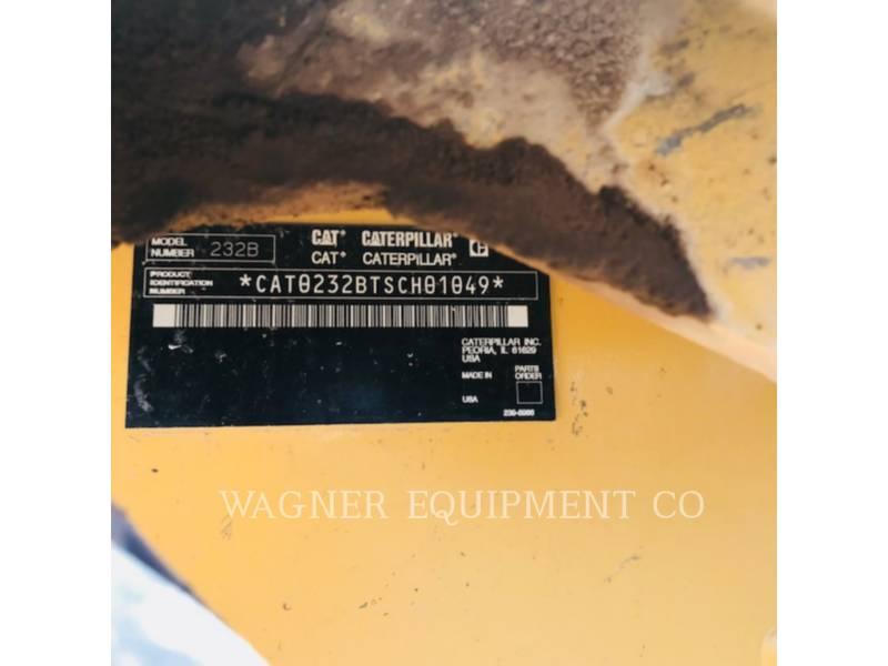 CATERPILLAR PALE COMPATTE SKID STEER 232B equipment  photo 5
