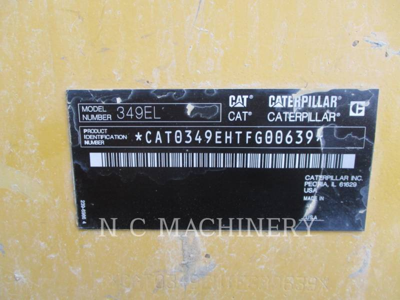 CATERPILLAR ESCAVADEIRAS 349E L equipment  photo 17