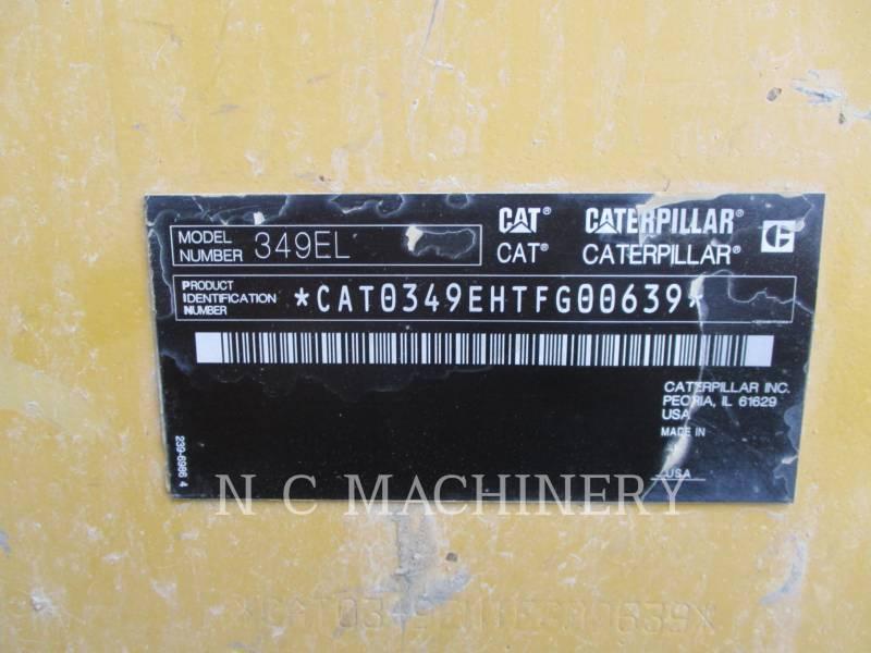 CATERPILLAR TRACK EXCAVATORS 349E L equipment  photo 17