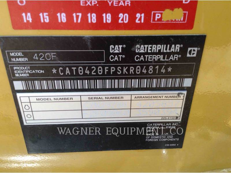 CATERPILLAR BAGGERLADER 420FST equipment  photo 9
