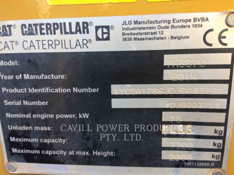 CATERPILLAR TELEHANDLER TH337C equipment  photo 3