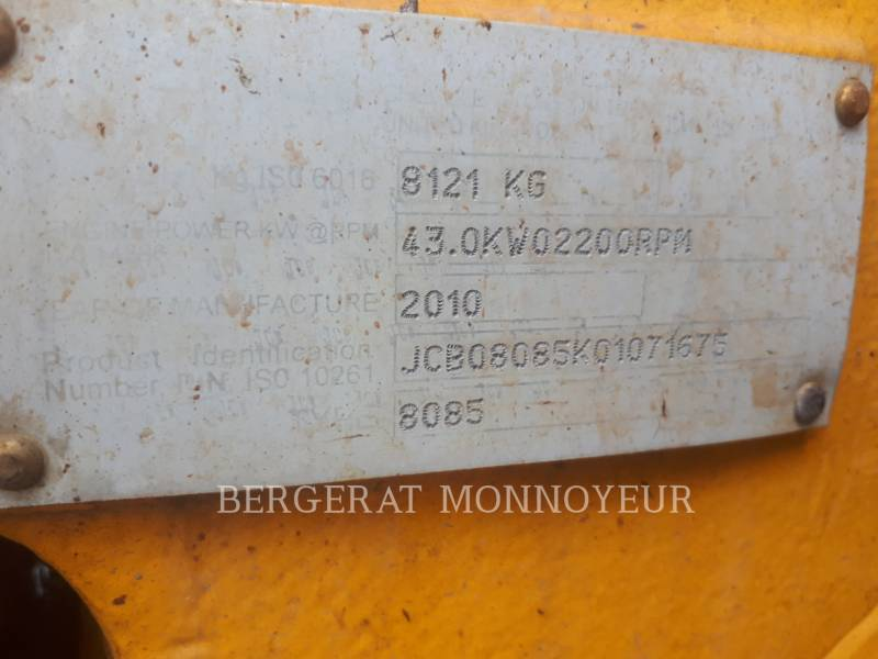 JCB KETTEN-HYDRAULIKBAGGER 8085 equipment  photo 6