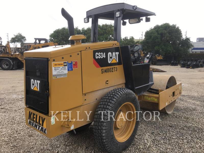 CATERPILLAR VIBRATORY SINGLE DRUM SMOOTH CS 34 equipment  photo 6