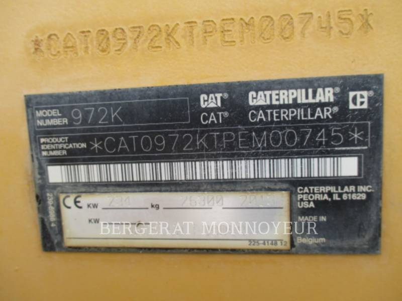 CATERPILLAR RADLADER/INDUSTRIE-RADLADER 972K equipment  photo 9