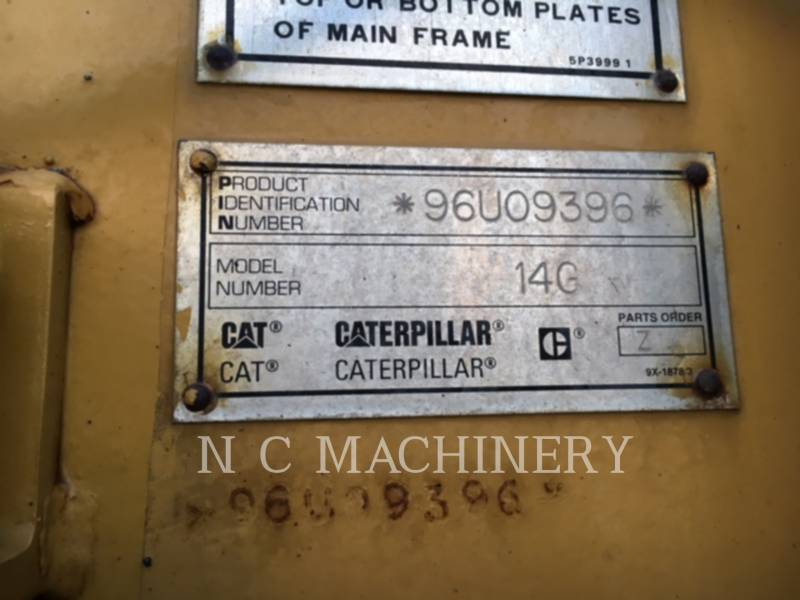 CATERPILLAR NIVELEUSES 14G equipment  photo 9