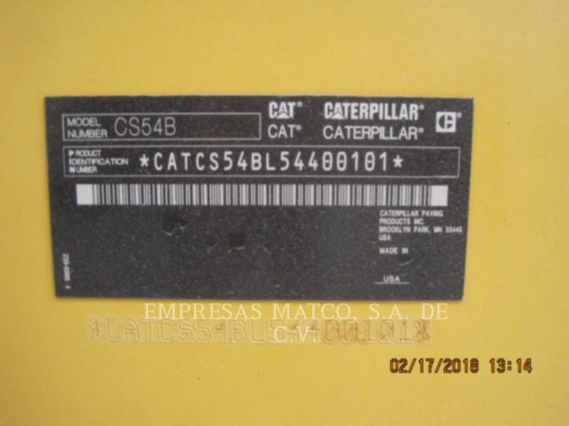 CATERPILLAR COMPACTADORES DE SUELOS CS54BLRC equipment  photo 6
