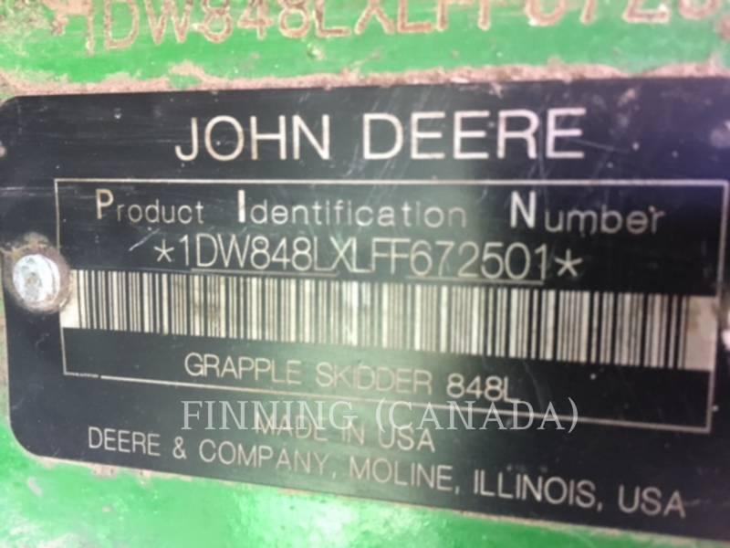 JOHN DEERE FORESTRY - SKIDDER 848 L equipment  photo 8