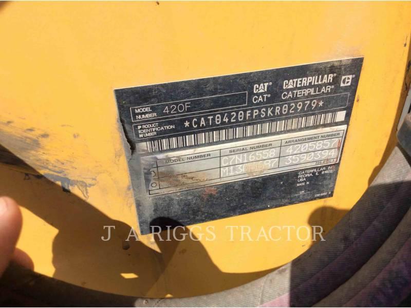CATERPILLAR BACKHOE LOADERS 420F 4AEM equipment  photo 5