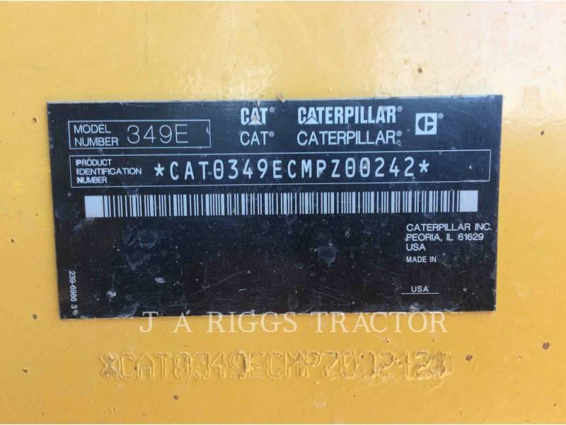 CATERPILLAR TRACK EXCAVATORS 349E 12C equipment  photo 12