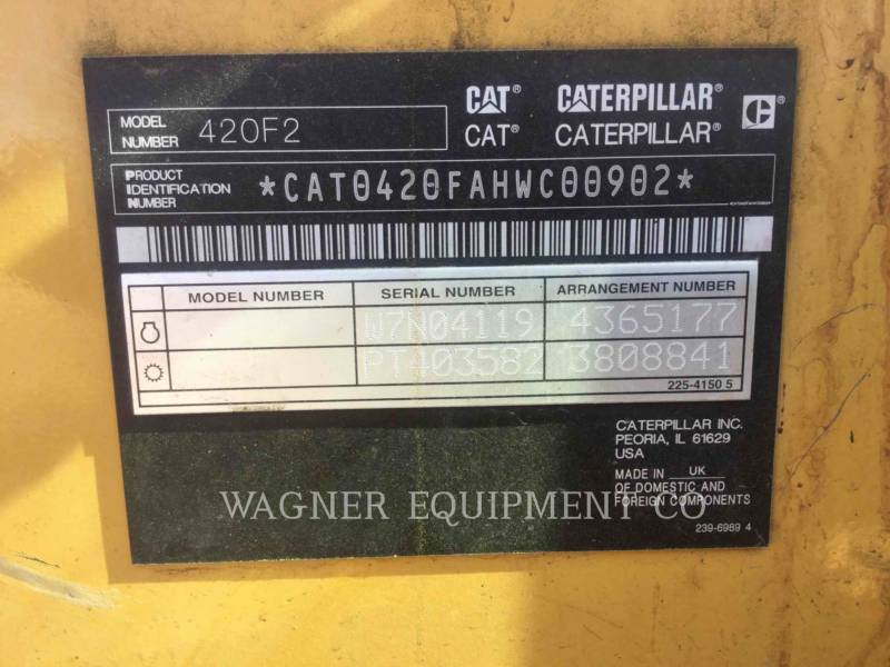 CATERPILLAR RETROEXCAVADORAS CARGADORAS 420F2ST equipment  photo 10
